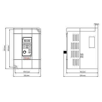 CV100-4T-0055G 5,5 KW 3/3 Faz Hız Kontrol Cihazı (Sürücü) KİNCO