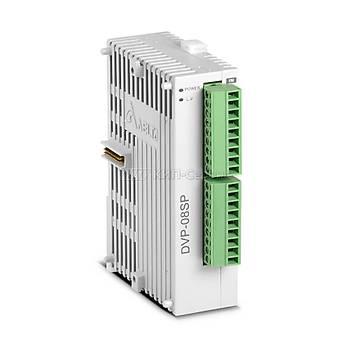DVP08SP11T 24VDC 4 Giriþli 4 Tristör Çýkýþlý PLC Geniþleme Modülü DELTA
