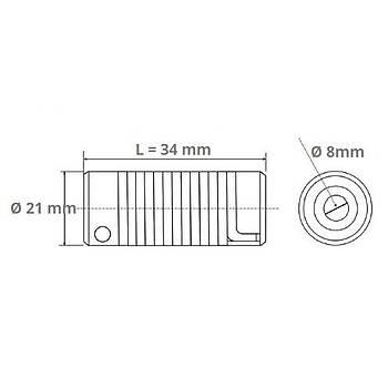 ESC-2134 8x8mm Çelik Yaylı Kaplin