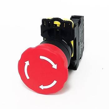 A1-01ZS 22mm Kalýcý Tip Acil Stop Butonu GWEST