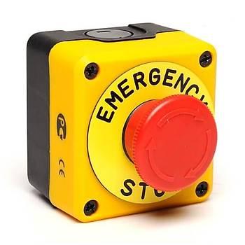 P1EC400E40-K Kutulu Etiketli Acil Stop Butonu EMAS