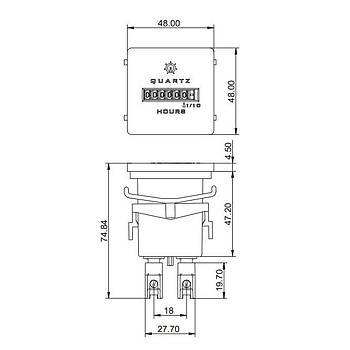LC37F1 4-30V AC/DC Mekanik Ýþ Güç Zaman Saati (Resetsiz) GIC