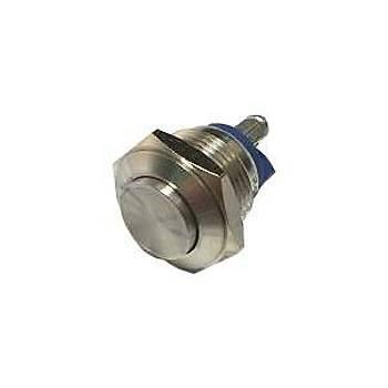 16mm Yaylý Metal Buton Çýkýk Kafa IP67 EJ16-221A BUTTO