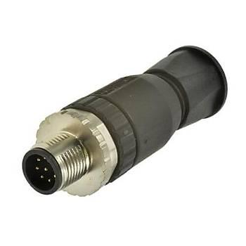 M12 8 Pinli Düz Tip Erkek Sensör Konnektörü 43-00132 CONEC