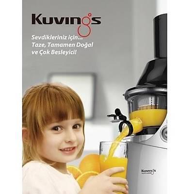 Kuvings B6000PR Slow Juicer, Katý Meyve Sýkacaðý, Bordo