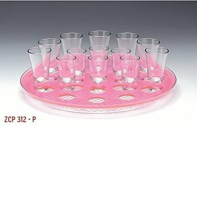 Zicco ZCP 312 Shot servis tepsisi, polikarbonat, 21'li