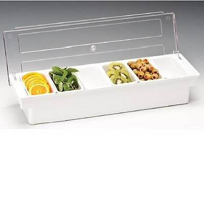 Zicco ZCP 306 Bar konteyner, 6'lý, polikarbonat kapaklý