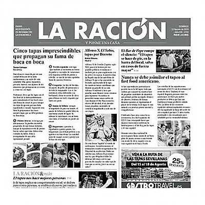 """100% Chef Newspaper """"LA RACIÓN"""", 500 adet"""
