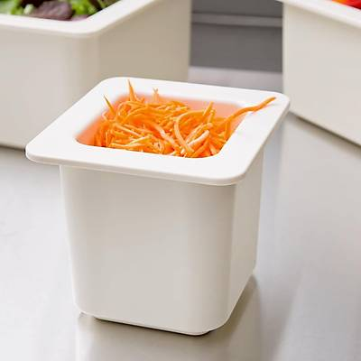 Cambro 66CF148 ColdFest 1/6 Size White Food Pan