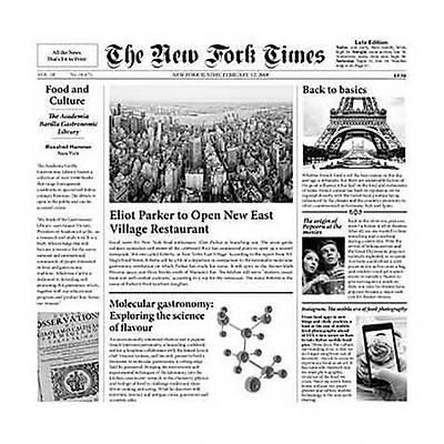 """100% Chef Newspaper """"NEW FORK TIMES"""", 500 adet"""