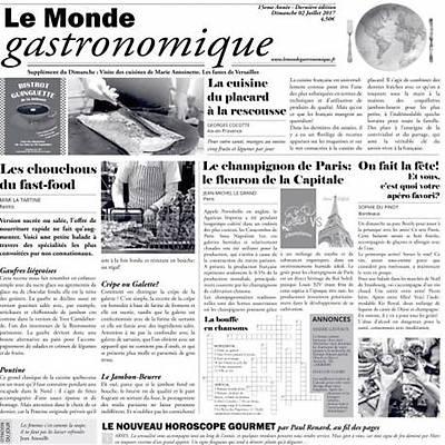 "100% Chef Newspaper ""LE MONDE GASTRONOMIQUE"", 500 adet"