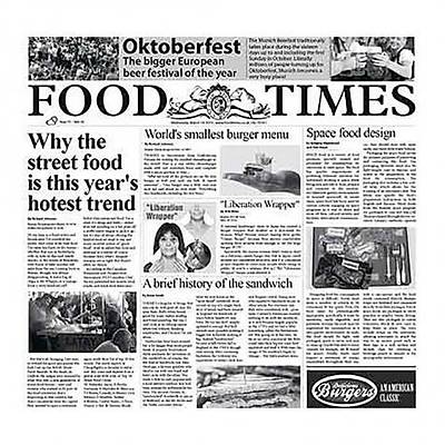 "100% Chef Newspaper ""FOOD TIMES"", 500 adet"