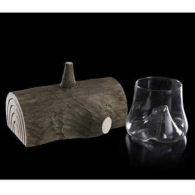 100% Chef Wood Trunk Glass