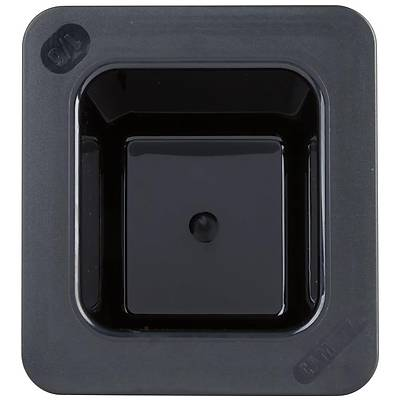 Cambro 66CF110 ColdFest 1/6 Size Black Food Pan