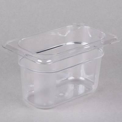 Cambro 94CW135 Camwear 1/9 Size Clear Food Pan, 6'lý