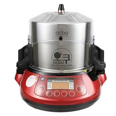 OCOO Automatic pressure double boiler, red
