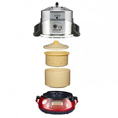 OCOO Automatic pressure double boiler, black