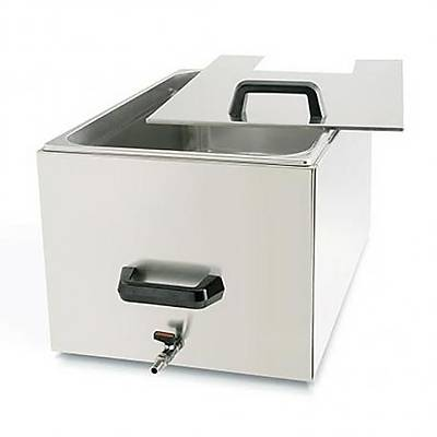 100% Chef Thermal Container Inox (Cover Included), 27 Lt