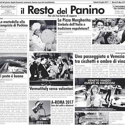 """100% Chef Newspaper """"IL RESTO DEL PANINO"""", 500 adet"""