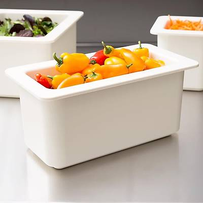 Cambro 36CF148 ColdFest 1/3 Size White Food Pan