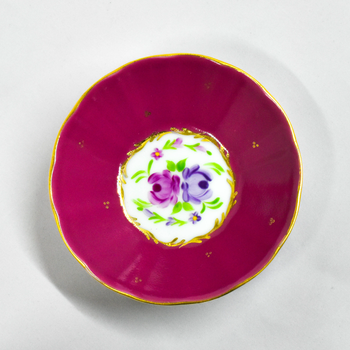 Porselen Desenli Çay Tabaðý