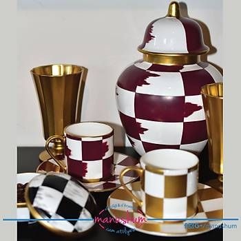 Damalı Kahve Fincanı
