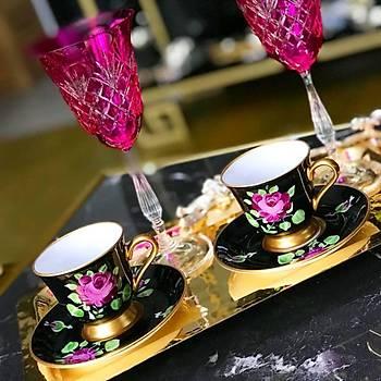 Azra Kahve Fincaný - Black