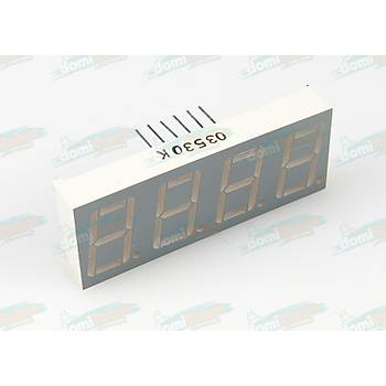 4 Digit 14.2mm YEÞÝL LED Display (Katod)
