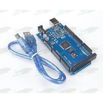Mega 2560 R3 (USB CH340 Çipli) -Arduino Uyumlu- USB Kablo Hediyeli!