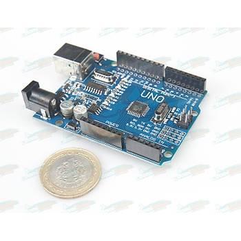 UNO R3 Kontrol Kartý (CH340 Çipli) -Arduino Uyumlu- USB Kablo Hediyeli!