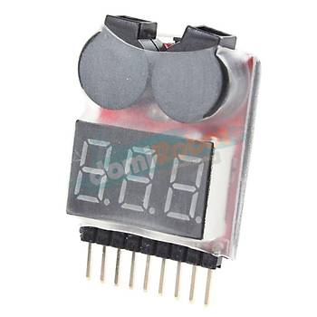 1-8S LiPo Batarya Voltaj Test Cihazý