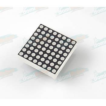 8x8 Matrix Anod Kýrmýzý Led Display (32mm)