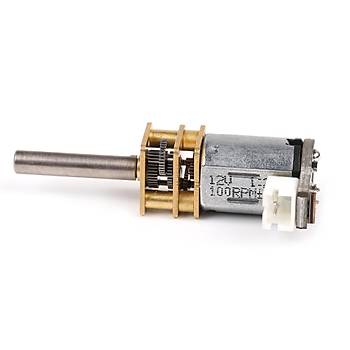 MakeBlock Mini DC Metal Diþli Motor - N20 12V/100RPM