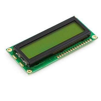 16x2 LCD Ekran ::Yeþil Arka Iþýklý