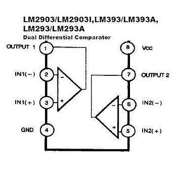 LM393P SMD Dual Differential Comparator