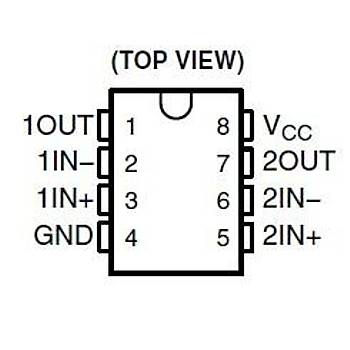 LM393P Dual Differential Comparator