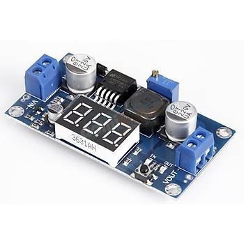 LM2596S Step-down Voltaj Regülatör Güç Modülü -Voltmetre Display