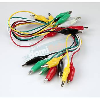 Krokodil Kablo Küçük Boy Renkli (10adet)