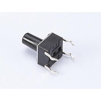 4 Pin Mini Push-Buton (Tuþ Yüksekliði 6mm)