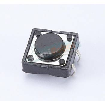 4 Pin Push-Buton 12x12 Yuvarlak Tuþ (10adet)
