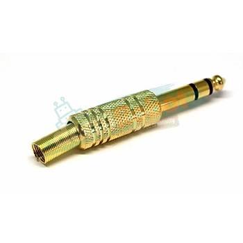 6.3mm Stereo Jack Erkek Gold