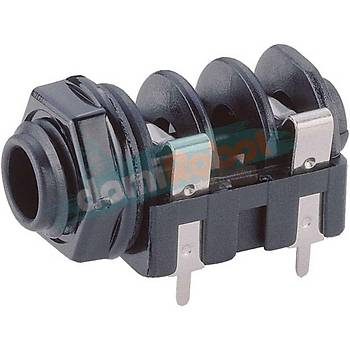 6.3mm 2 Pin Mono Jack Soketi (5adet)