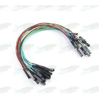 Diþi-Erkek Renkli Esnek Jumper Kablo L:20cm (20adet)