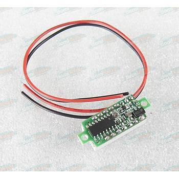 Voltmetre DC 0.28inc 3.5-30V 2 telli - KIRMIZI