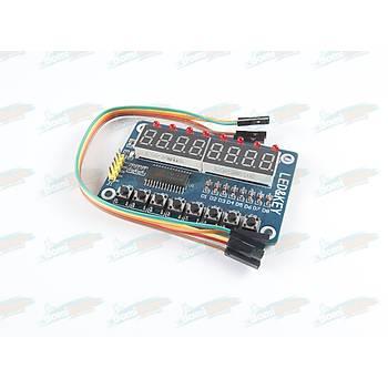 8 Karakter 7 Segment Seri Display TM1638 - Kablo Dahil