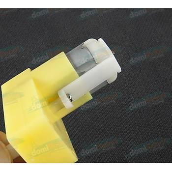 TT Diþli Motor - L Tip Tek Þaft DC Motor DIY 3-6V