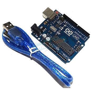 UNO R3 Kontrol Kartý (CH340 Çipli) -Arduino Uyumlu- USB Kablo Dahil!