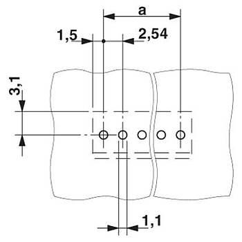 PCB klemens - MPT 0,5/ 7-2,54