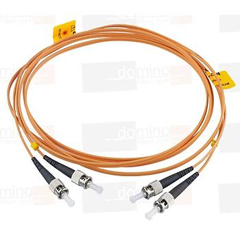 ST-ST MM 62,5/125 Duplex F/O Patchcord L:1m