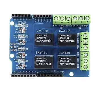 Arduino Uyumlu DC 3.3V 5V 4 Kanallý Röle Shield
